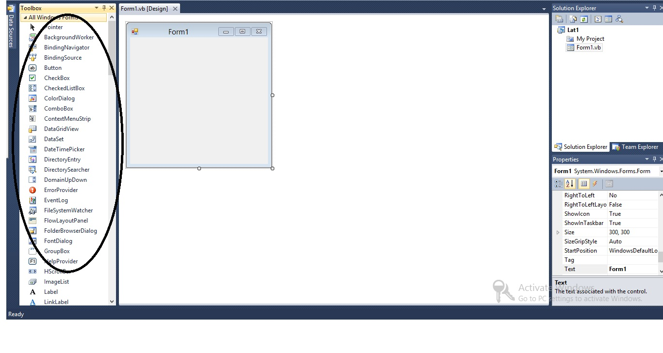 Menambahkan Komponen Pada VB Net 2010