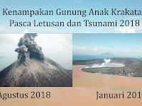 Kenampakan Gunung Anak Krakatau Pasca Letusan dan Tsunami 2018 : Agustus 2018 vs Januari 2019 [Video]