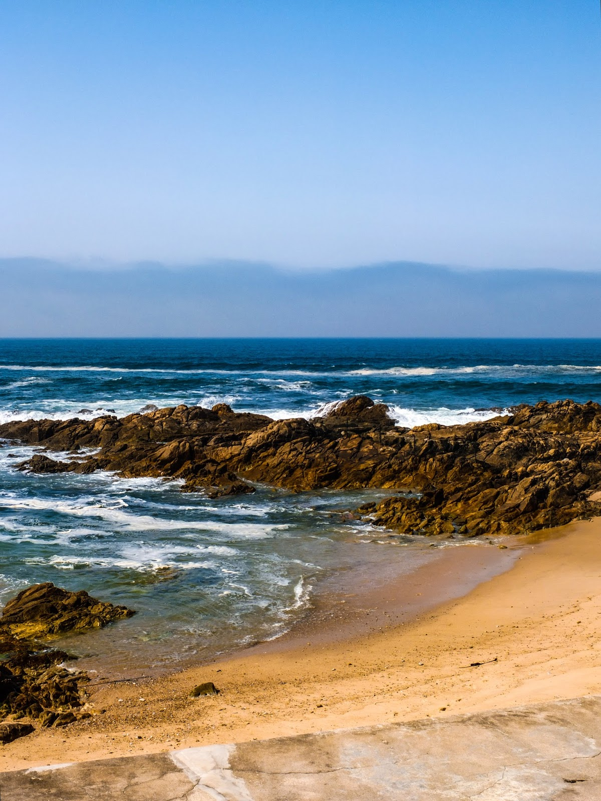 Rocky Atlantic Coastline of Porto, Portugal.