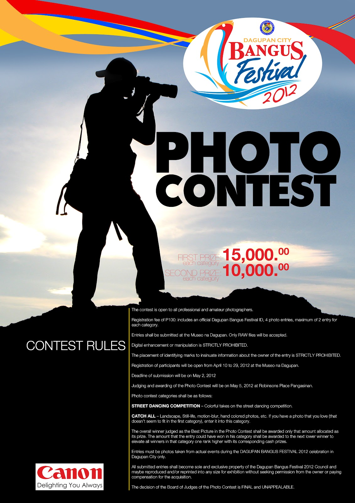 facebook photo contest rules template - what 39 s up dagupan bangus festival 2012 photo contest