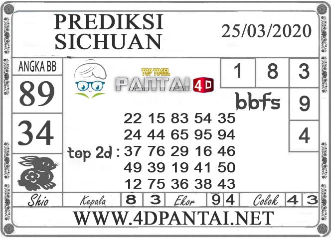 PREDIKSI TOGEL SICHUAN PANTAI4D 25 MARET 2020