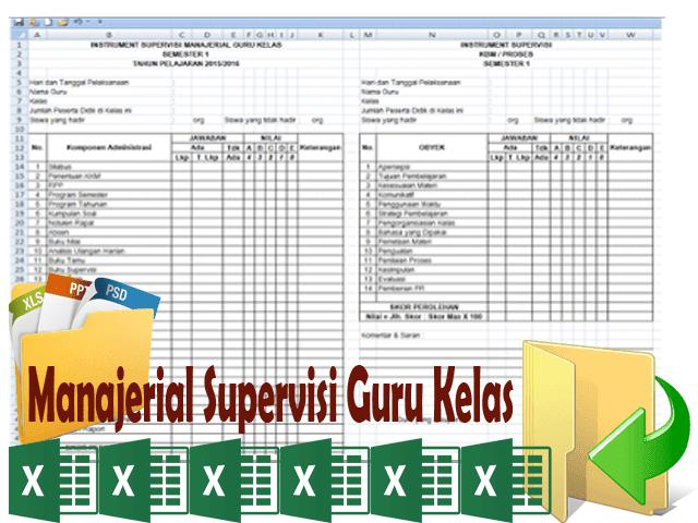 Manajerial Supervisi Guru Kelas ( Download File Guru )|Get Sekolah Kita