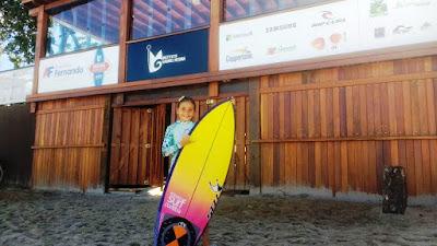 Jovem atleta da Ilha Natália Gerena, 8 anos, foi convidada a competir na 2ª etapa do Circuito Medina/ASM de Surf 2017