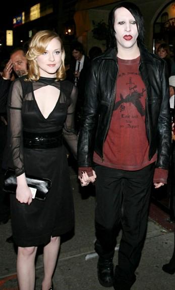 Foto de Evan Rachel Wood de la mano de su ex pareja