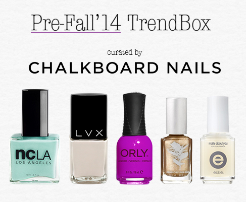 Chalkboard Nails Pre-Fall 2014 Trendbox by Nailbox.co