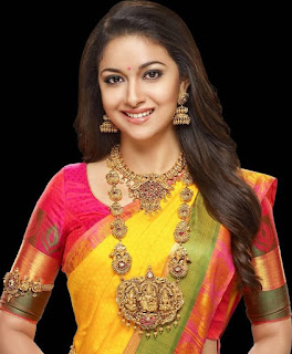 Keerthy Suresh in Yellow Color Saree with Cute Smile for Photo Shoot