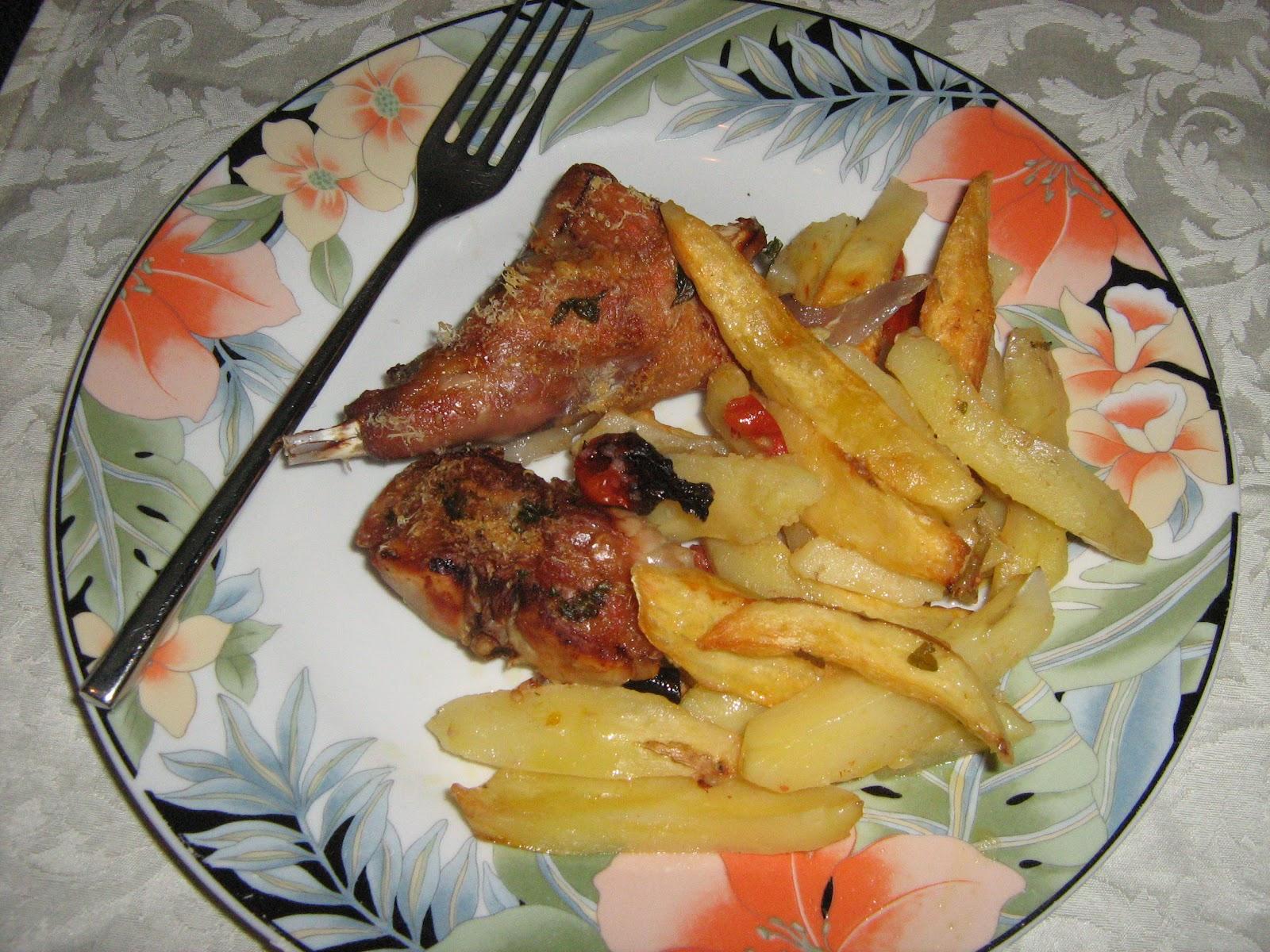 Le ricette di maripatty coniglio al forno con patate for Cucinare coniglio