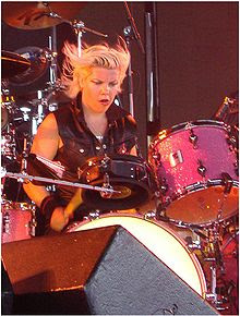 Motley Crue female drummer Samantha Maloney