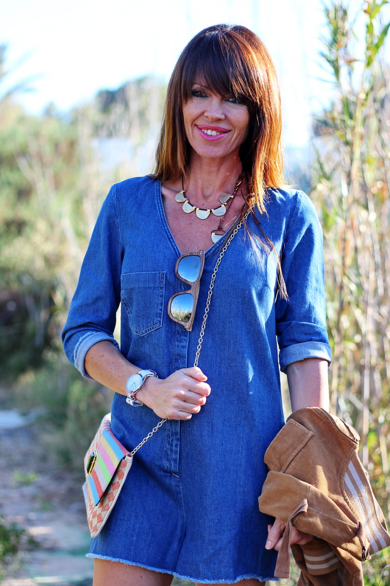 Tendencias denim, Pepe Moll, Fashion blogger, Zara, jumpsuit, Sandalias abotinadas