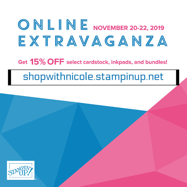 Online Extravaganza sale Wednesday November 20 through Friday November 22