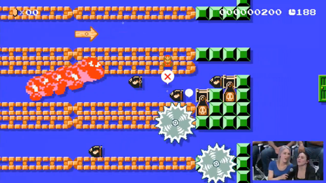 Escape From Giant Wiggler Super Mario Maker underwater