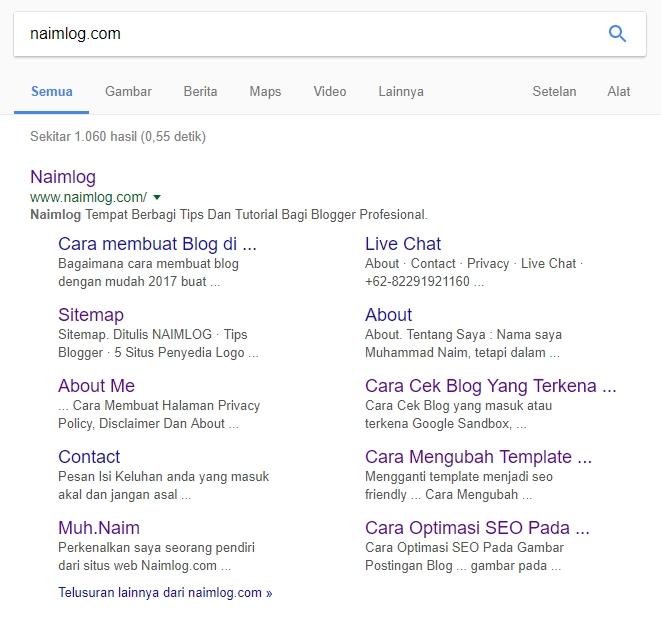 5 Tips Blog Untuk Mendapatkan Sitelink Di Google Dengan Mudah