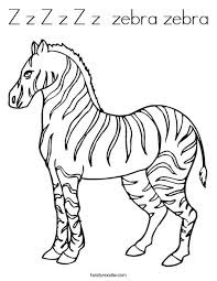 Zz For Zebra - Alphabets Coloring Pages - Bluelotusdc
