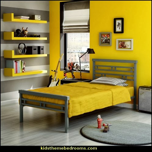 boys bedroom decorating ideas - boys bedrooms - decorating boys rooms - design ideas boys bedrooms - boys theme bedroom ideas - boys clubhouse theme bedroom ideas - no girls allowed bedroom ideas - boys bedroom furniture - bookcases - beds - shelves - storage