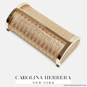Queen Letizia carried CH Carolina Herrera Clutch