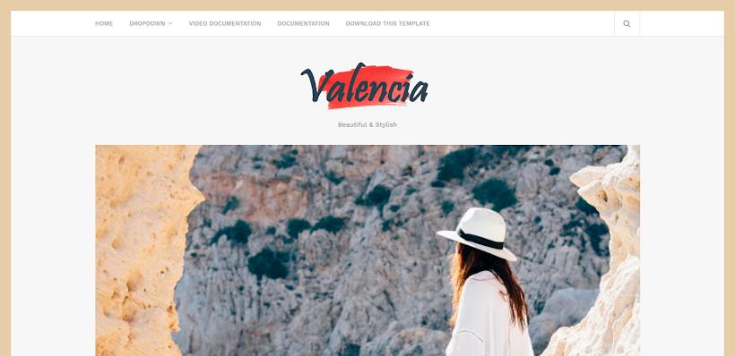Valencia Free Blogger Template