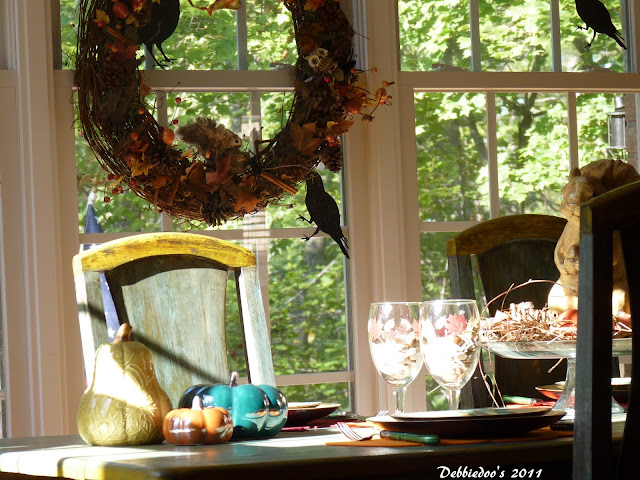 Thrifty Fall decor tablescape!
