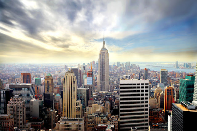 new york tapetti manhattan skyline city