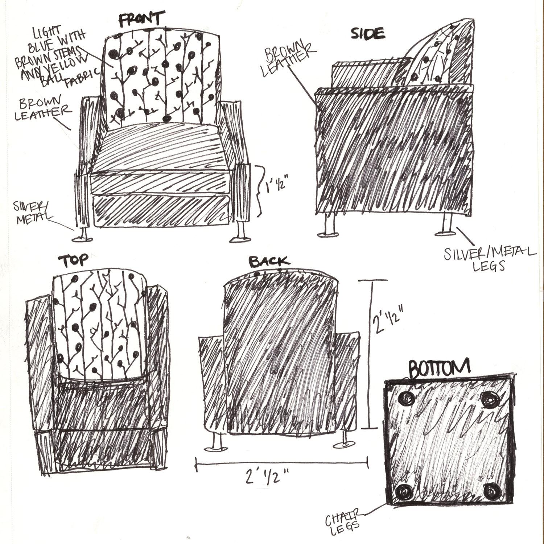 Ari Settles S Interior Design Portfolio Sketch Journal