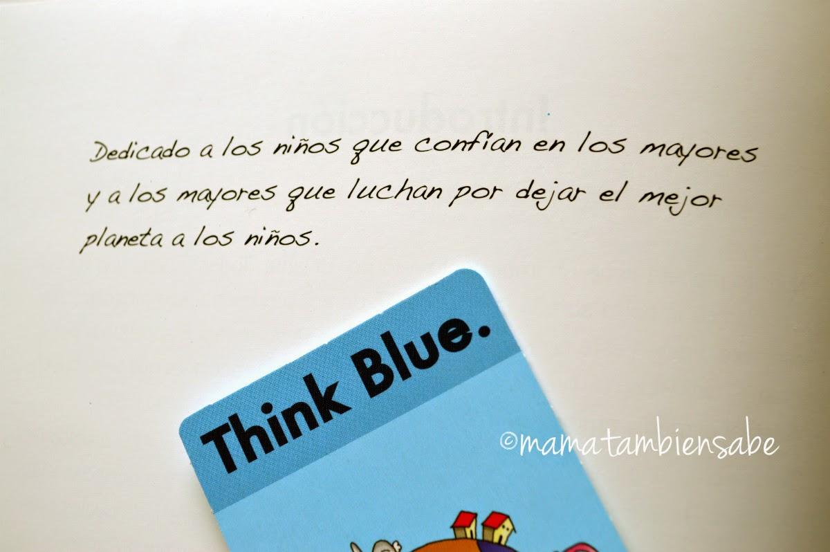 Dedicatoria de el libro El Planeta Azul de ThinkBlue de VW