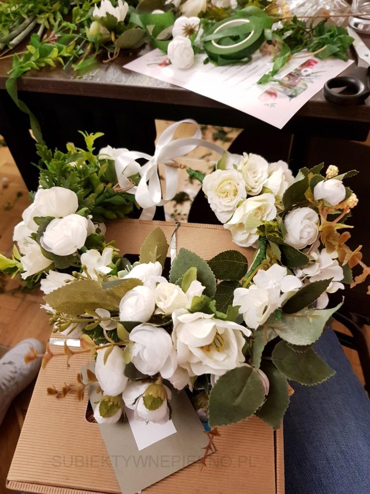 Relacja - Weekend SPA z Drogerie Jaśmin  - wianek z białych kwiatów