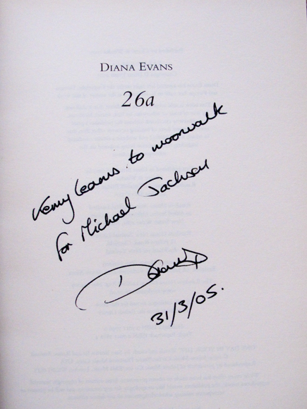 Inscription in 26a Diana Evans
