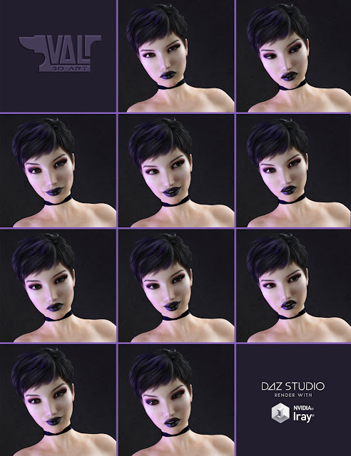 Enchantress Poses and Expressions for Genesis 3 Female