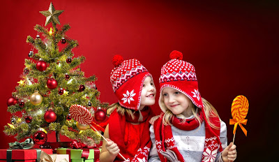 new year , kids, red, funny gifts, christmas tree, holiday, jewelry, nicely, child, emotions, girl ,children, cute, christmas, decorate, decoration, gifts, xmas, presents,