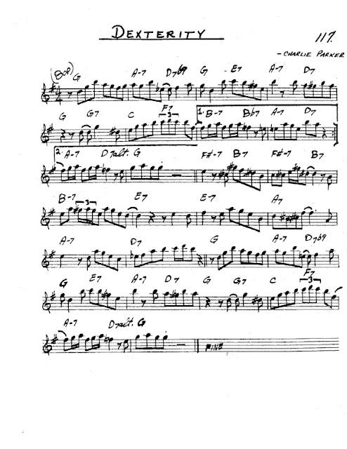 Partitura Saxofón Charlie Parker