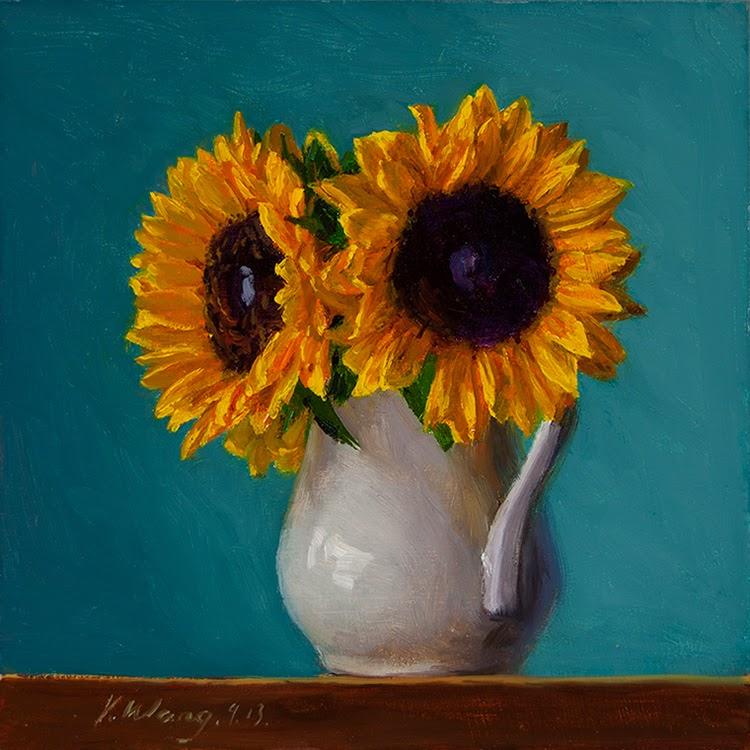 Wang Fine Art: sunflower, still life flora flower oil ...