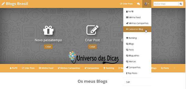 Divulgar blog grátis