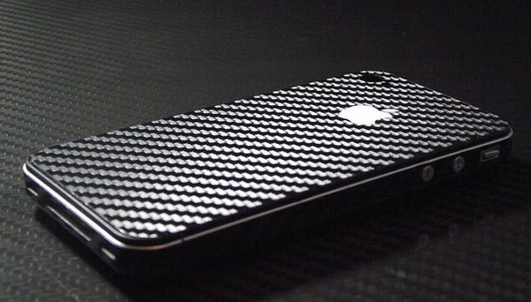Black Carbon Fiber Sticker Skin Full Body Guard Case for iPhone 4