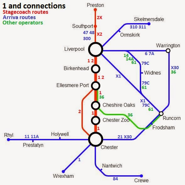 Great British Bus Routes com: 1: Liverpool - Chester