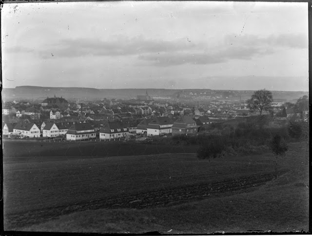 Stadtansicht Ansbach, Mittelfranken - um 1930