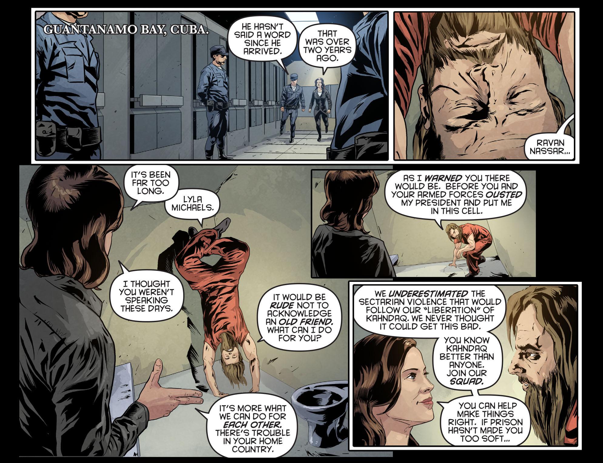 Read online Arrow: Season 2.5 [I] comic -  Issue #7 - 21