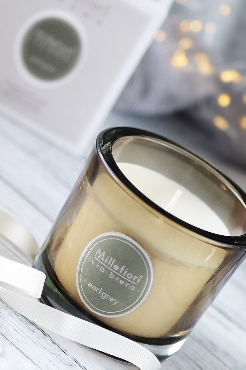 świeca o zapachu herbaty earl grey