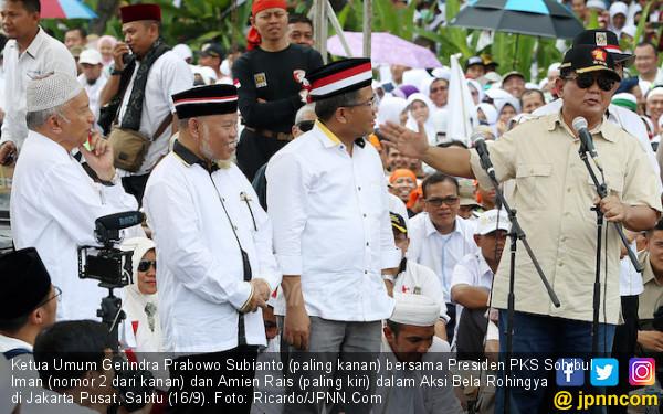 Gerindra Tak Mau Prabowo Turun Level Jadi Pendamping Amien