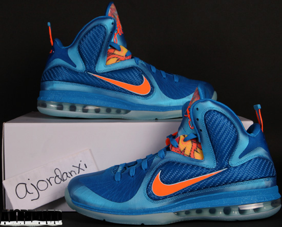 sale retailer 2a90f 29835 Nike LeBron 9 Neptune Blue Total Orange-Current Blue-Copa (2011)