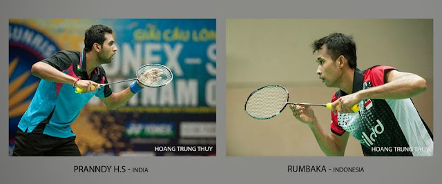 Trận chung kết của 2 đối thủ xứng tầm Pranndy H.S của India và Rumbak của Indonesia