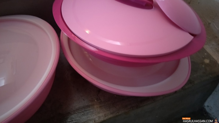 Tupperware Set Serveware Warna Pink