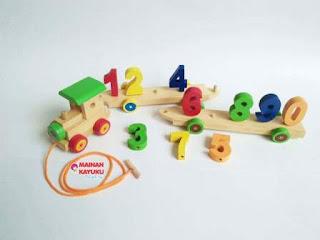 Kereta Angka Mainan Anak Edukatif
