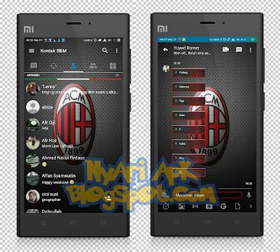 Download BBM Mod AC Milan Versi 3.1.0.13 Apk Terbaru