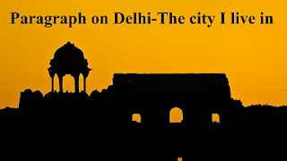 Paragraph on Delhi-The city I live in