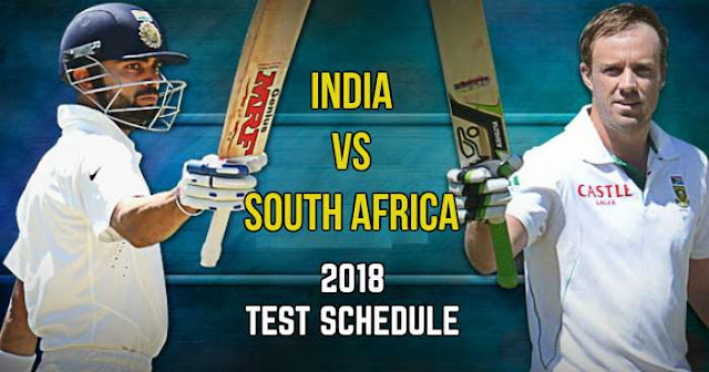 India vs South Africa 2018 Test Schedule: IND vs SA