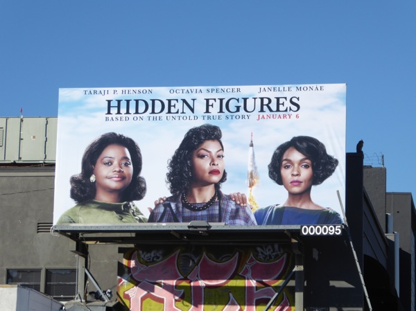 Hidden Figures movie billboard