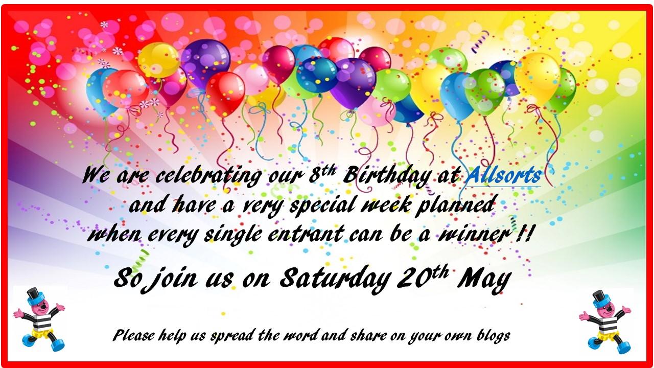 Allsorts Challenge 8th Birthday Celebration