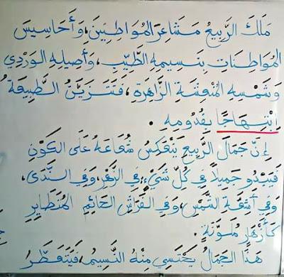 تقويم في مادة اللغة العربية السنة الرابعة ابتدائي الجيل الثاني الفصل الثالث