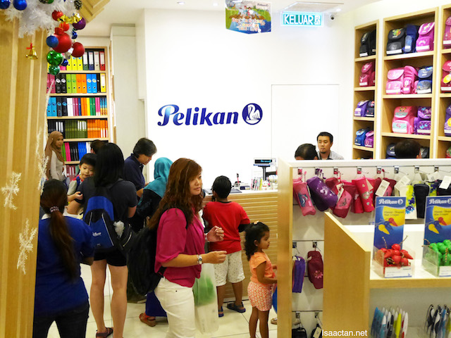 The Pelikan Store @ Gardens Mall saw an influx of parents checking out the sales
