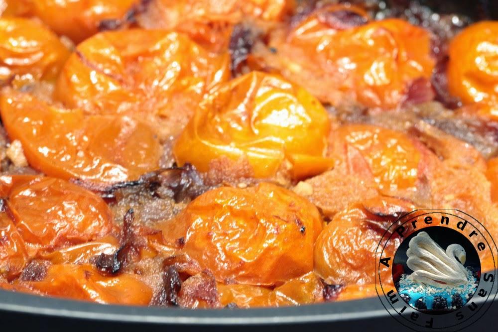 Velouté de tomates au pesto de tomates séchées