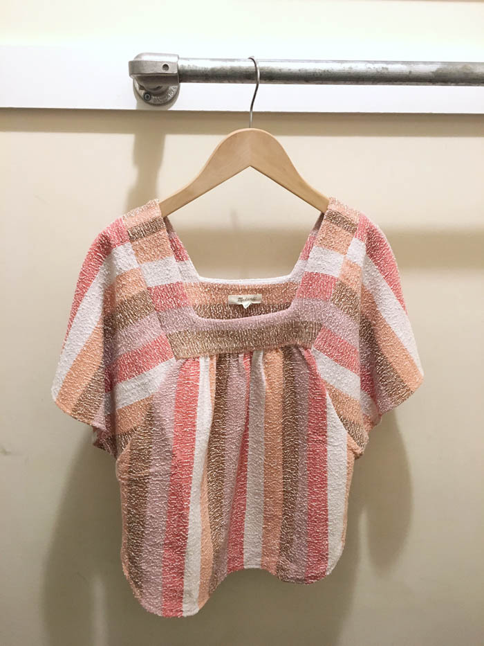 pink stripe top